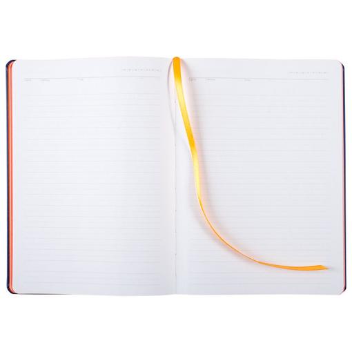 Ежедневник недатированный Blues, синий с оранжевым фото