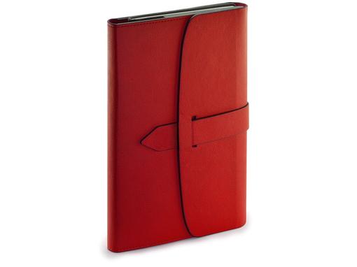 Ежедневник недатированный А5 Senate с магнитным клапаном, красный фото