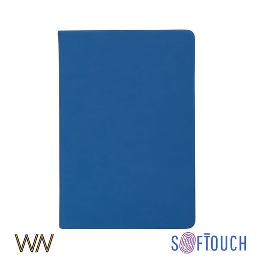 Ежедневник недатированный Милан А5, soft touch, синий фото