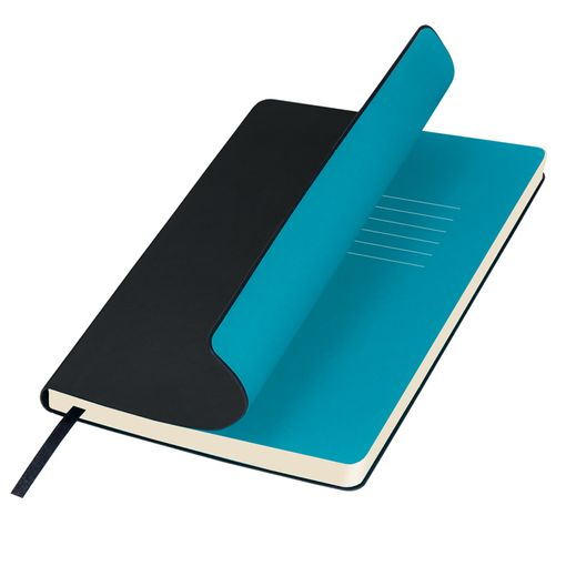 Ежедневник недатированный Portobello Trend, Sky, черный (стикер, б/ленты) фото