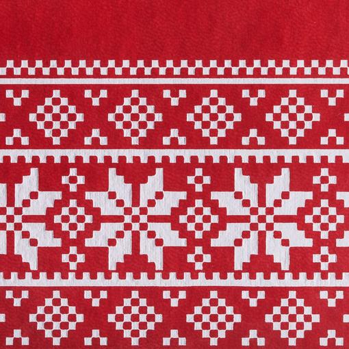 Ежедневник недатированный Скандик, красный/белый фото