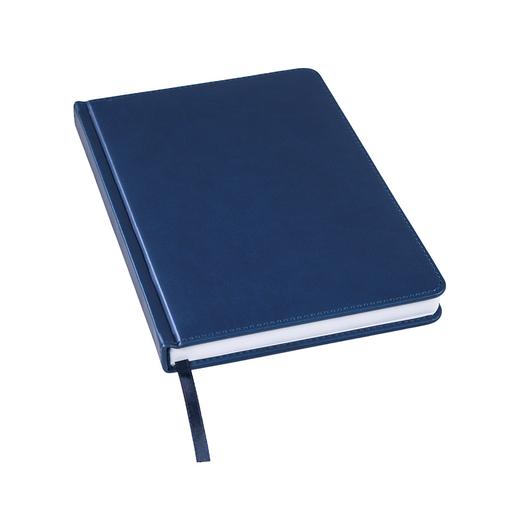 Ежедневник недатированный Bliss А5, темно-синий, белый блок, без обреза фото
