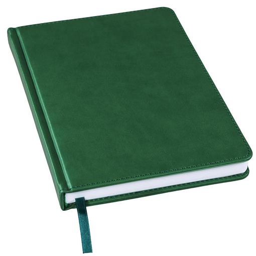 Ежедневник недатированный Bliss А5, темно-зеленый, белый блок, без обреза фото