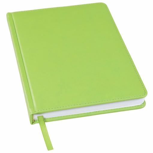 Ежедневник недатированный Bliss А5, зеленое яблоко, белый блок, без обреза фото