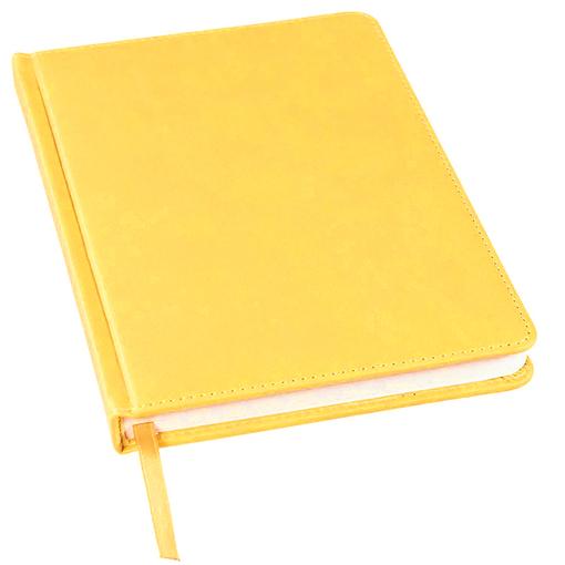 Ежедневник недатированный Bliss А5, желтый, белый блок, без обреза фото