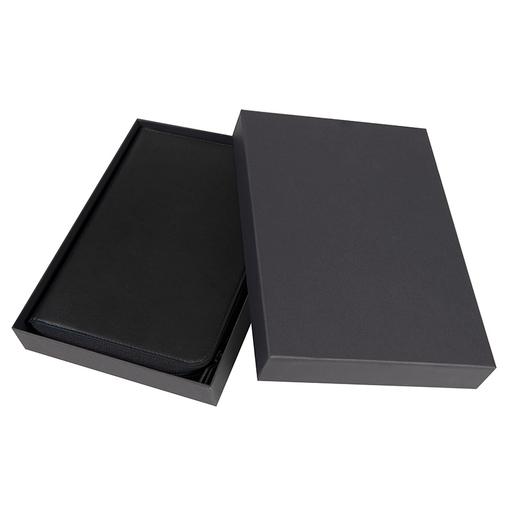 Ежедневник недатированный Chief, A5, на молнии, кремовый блок, подарочная коробка, черный фото
