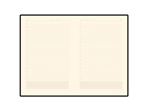 Ежедневник недатированный Zenith В6, 272стр, оранжевый, бежевый блок, без обреза фото