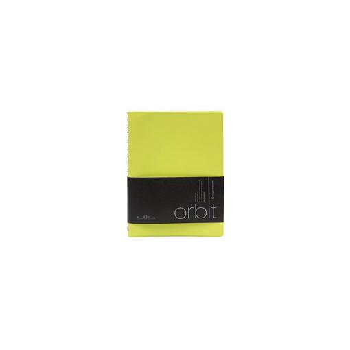 Ежедневник полудатированный Orbit А6, желтый, белый блок, серебряный обрез, без ляссе фото