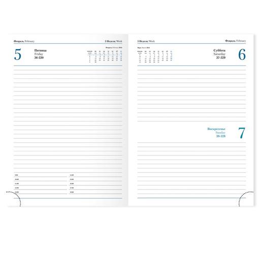 Ежедневник PORTLAND 5459 (650) 145x205 мм, бургунди,крем.блок, золот.срез, красно-черн.графика 2017 фото
