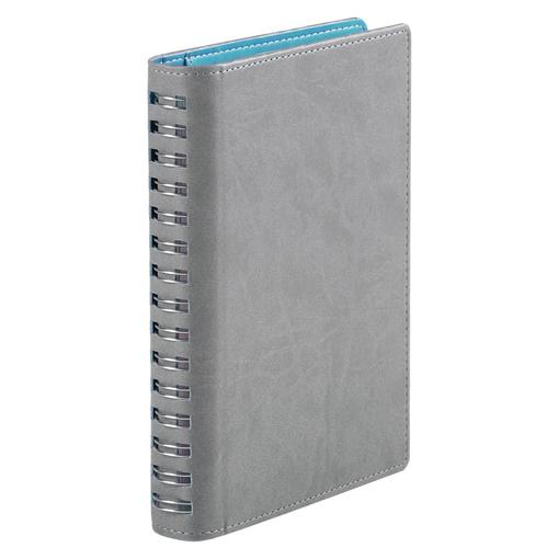 Ежедневник Semi, недатированный, серый с бирюзовым фото