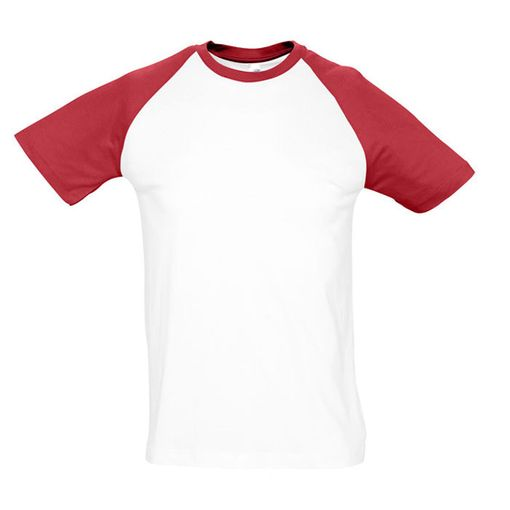 Футболка мужская Funky, белый, красный фото