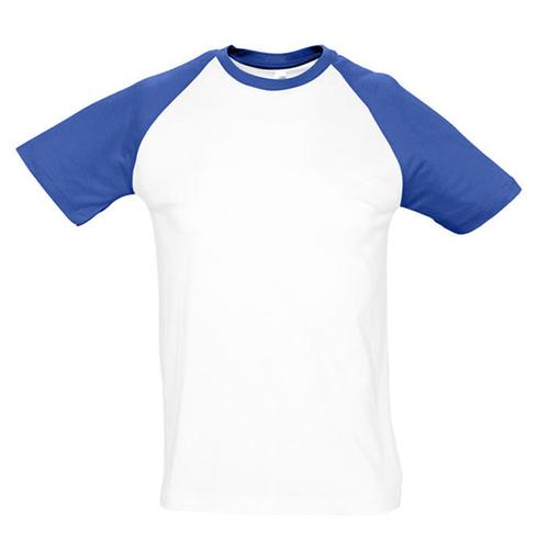 Футболка Funky, белый с ярко-синим фото