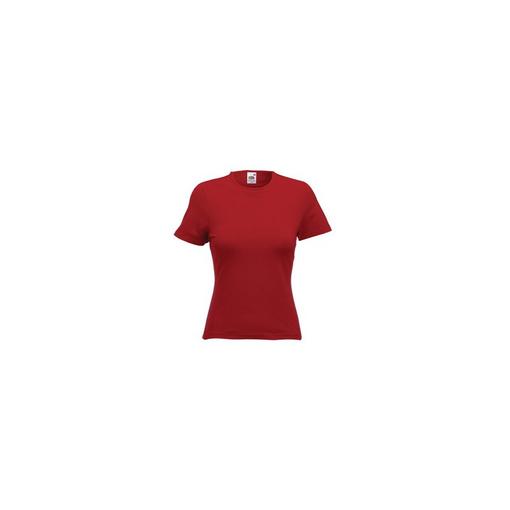 Футболка Lady-Fit Crew Neck T, кирпично-красный, 95% х/б, 5% эластан, 210 г/м2 фото