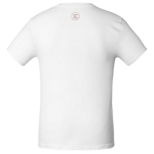 Футболка мужская приталенная «Любовь — тишина», белая фото
