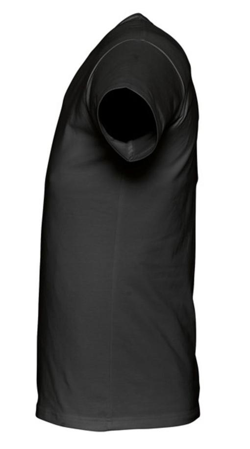 Футболка стретч мужская MILANO 190 черная, черный фото