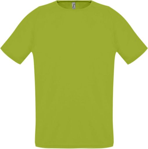 Футболка унисекс SPORTY 140, зеленое яблоко фото