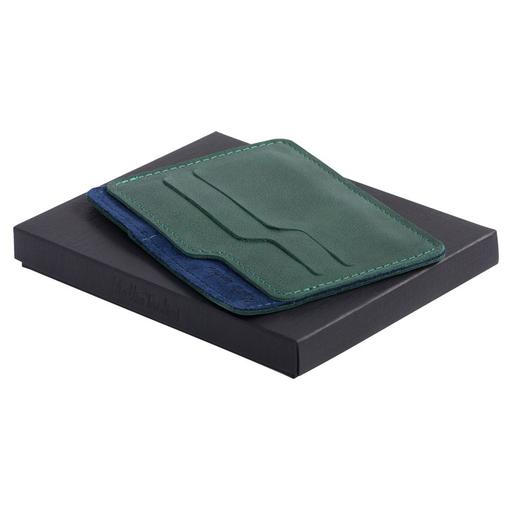 Чехол для карточек Roma, зелено-синий фото