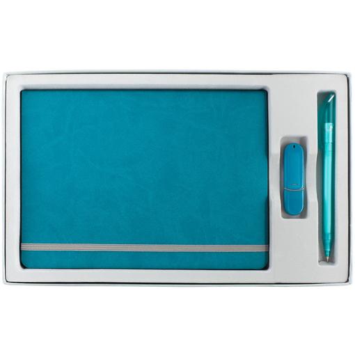 Коробка In Form под ежедневник, флешку, ручку, серебристая фото