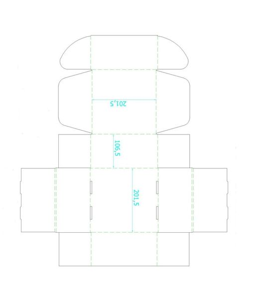 Коробка Medio, белая фото