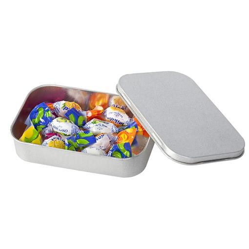 Коробка прямоугольная, малая, серебристая фото