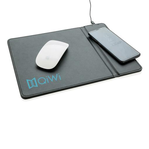 Коврик для мыши XD Collection с беспроводным зарядным устройством, 5W, черный фото
