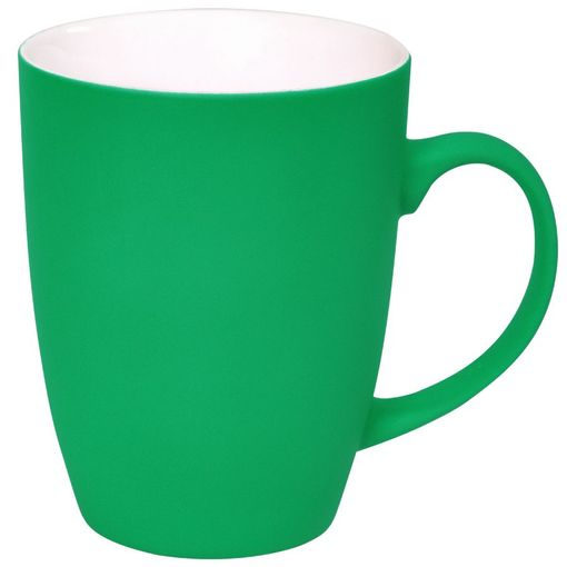 Кружка Sweet с прорезиненным покрытием, зеленый, 350 мл фото