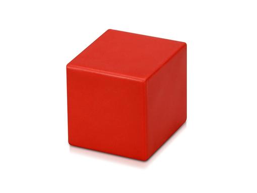 Антистресс Кубик 6,5см, красный фото