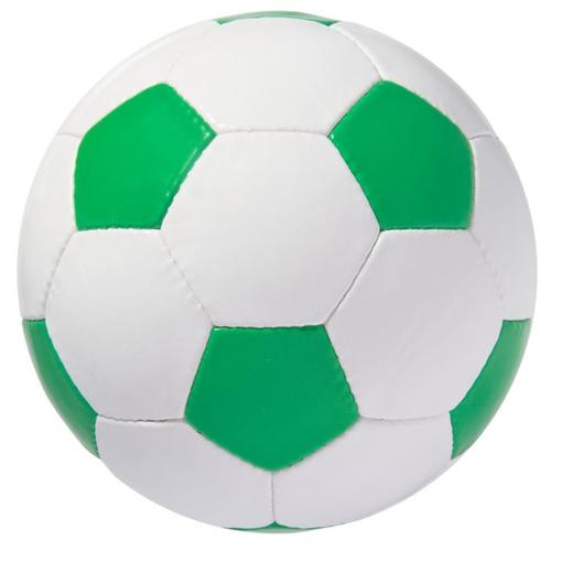 Мяч футбольный STREET, бело-зеленый фото