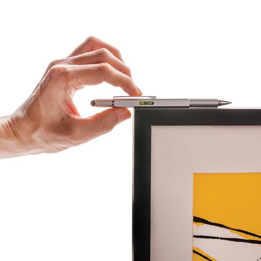 Многофункциональная ручка 5 в 1, серебряный фото