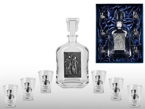 Набор для водки Металлурги, прозрачный, серый фото