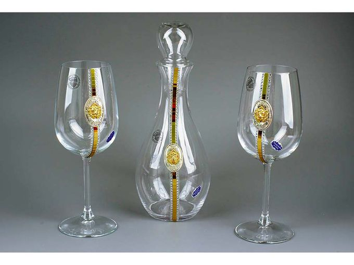 Набор для вина Ричард Львиное Сердце, прозрачный, золотой фото
