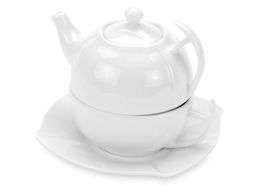 Набор Эгоист: чайник - 250 мл, чашка - 200 мл, блюдце, в подарочной упаковке фото