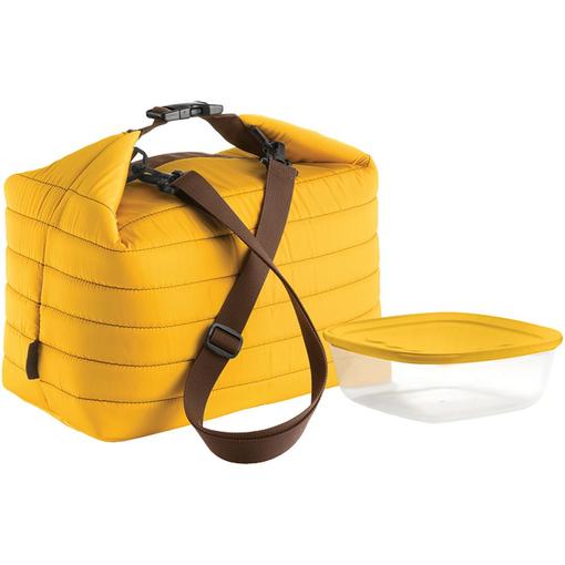 Набор Handy: термосумка и контейнер, большой, желтый фото