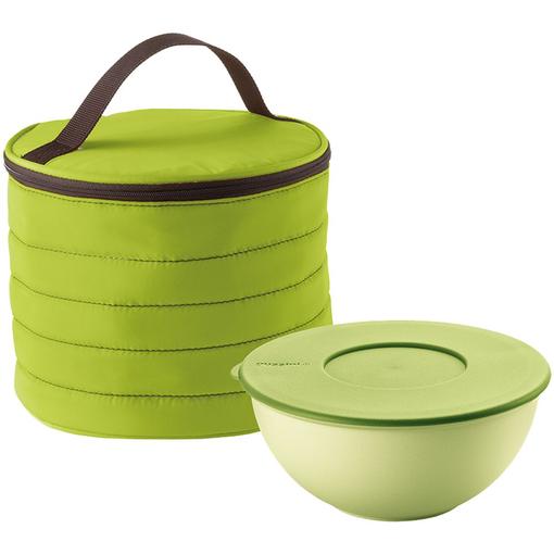 Набор Handy: термосумка и контейнер, круглый, зеленый фото
