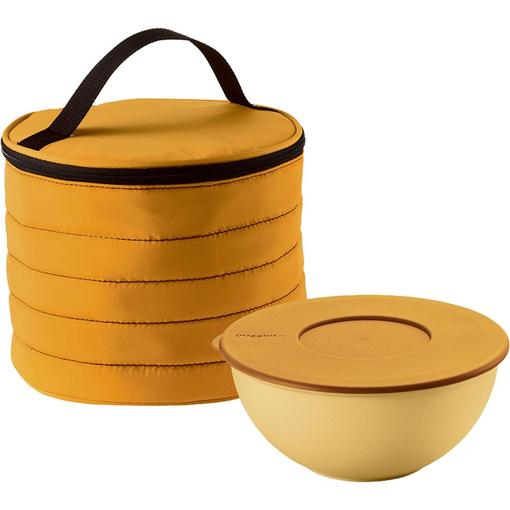 Набор Handy: термосумка и контейнер, круглый, желтый фото