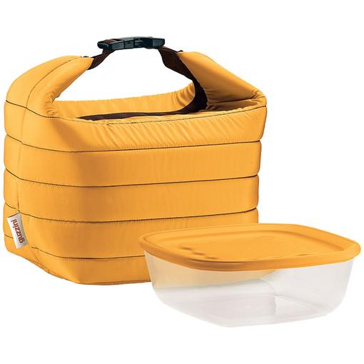 Набор Handy: термосумка и контейнер, малый, желтый фото