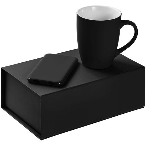 Набор Powerhouse: кружка Good Morning, внешний аккумулятор Uniscend Half Day Compact 5000 mAh, черный фото