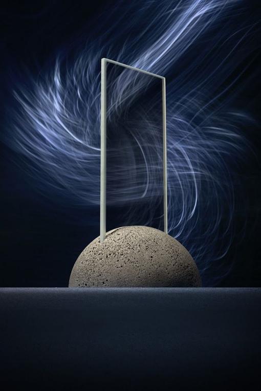 Стела Moon Globe, темно-серая фото