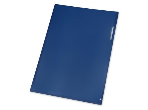 Папка уголок А4, синий фото