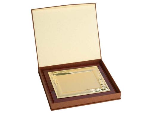 Плакетка Мадрид, золотой, коричневый фото