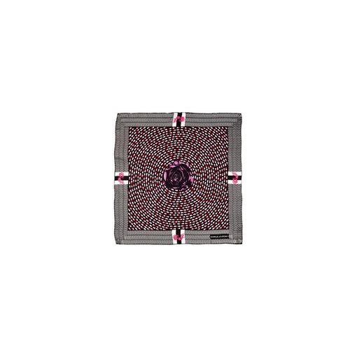 Платок шелковый Charles Jourdan Dream, серый, розовый фото