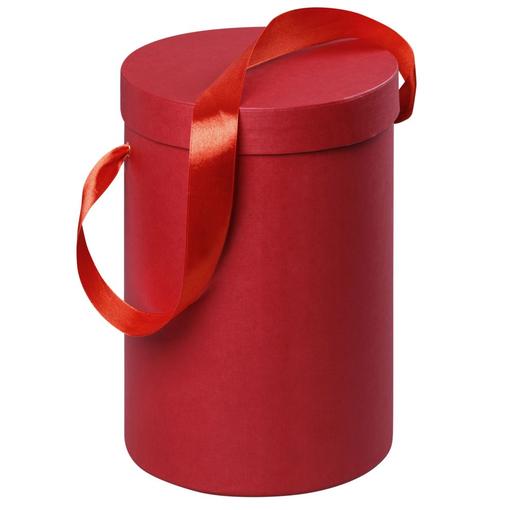 Подарочная коробка Rond, красная фото