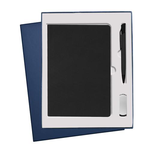 Подарочный набор Portobello Canyon: Ежедневник недатированный А5, Ручка, Флешка, черный фото