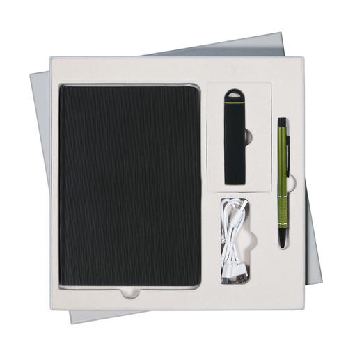Подарочный набор Portobello/Rain (ежедневник недатированный, ручка, Power Bank), черный фото