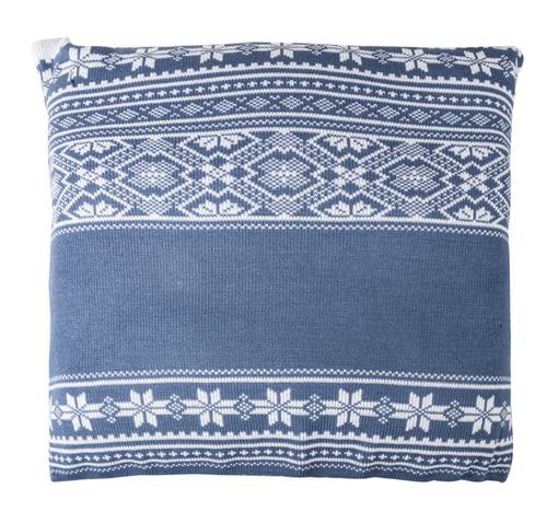 Подушка Скандик, синяя (индиго) фото