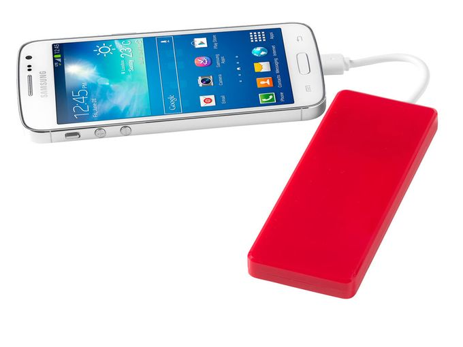 Портативное зарядное устройство Current, 1200 mAh, красный фото