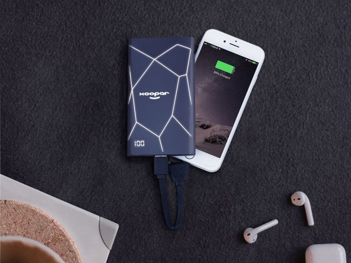 Портативное зарядное устройство XOOPAR GEO SLIM, черный фото