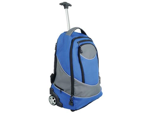 Рюкзак на колесиках Невада, серый, синий фото