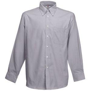 Рубашка Long Sleeve Oxford Shirt, серебряный/серый фото