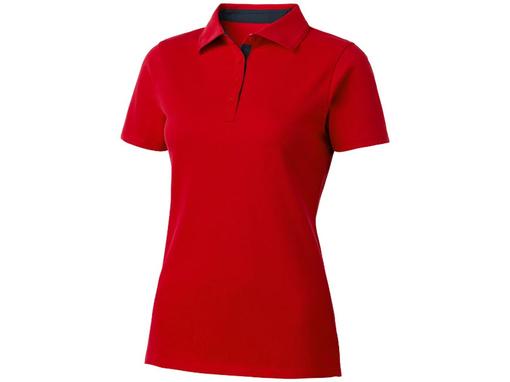Рубашка поло Hacker женская, красная фото